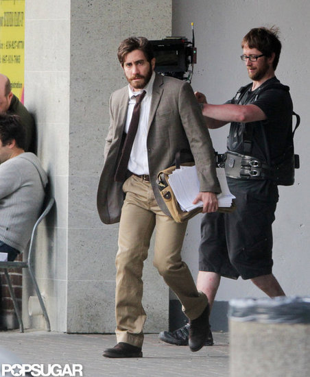 Jake Gyllenhaal Suits Up to Start Filming in Canada