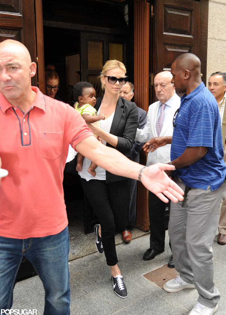 Charlize Theron stayed in Madrid during her Spain trip.