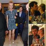 Diane Kruger and Joshua Jackson Kiss Over Dinner in Cannes