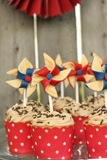 Vintage-Inspired Pinwheel Toppers