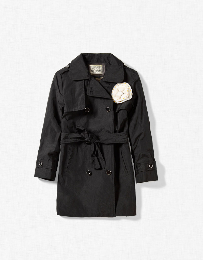Zara Trench Coat With Flower Appliqué ($50)
