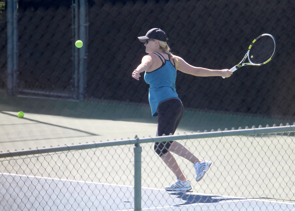 Reese Witherspoon looked athletic as ever as she played tennis at the Brentwood Country Club.