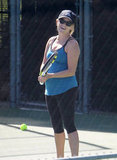 Reese Witherspoon had a laugh on the tennis court while hanging out at the Brentwood Country Club.