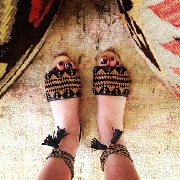 Whitney Port showed off a sweet new pair of Rebecca Minkoff sandals.  Source: Instagram user whitneyeveport