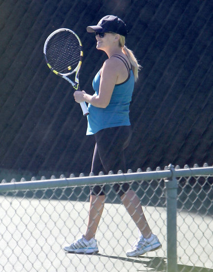 Pregnant Reese Witherspoon Takes on a Tennis Match