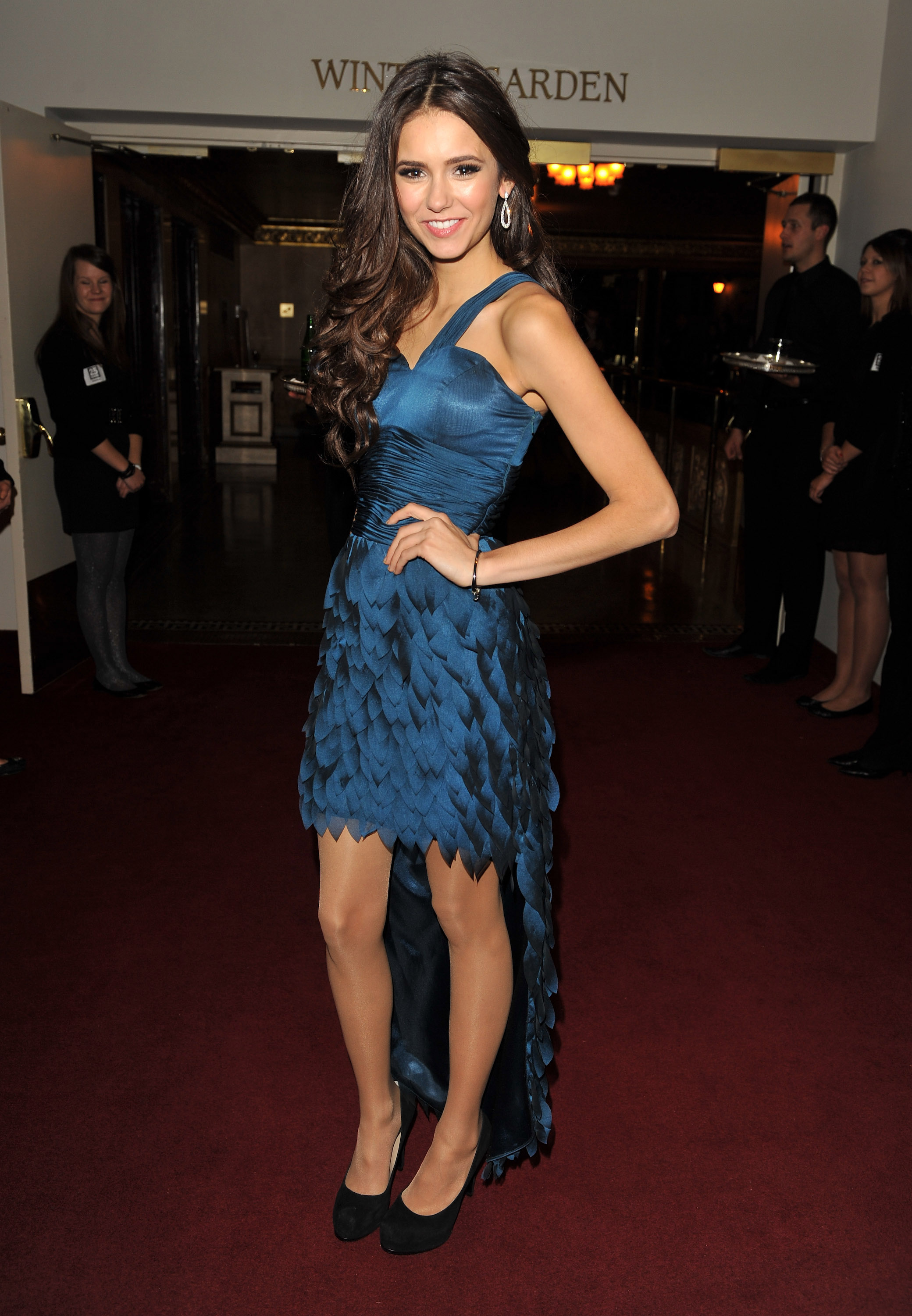 Rocking a serious high-low hem, Nina hit up the annual Gemini Awards in Toronto in 2010.