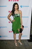 She showed off a green graphic print at Nylon's Young Hollywood party in 2009.