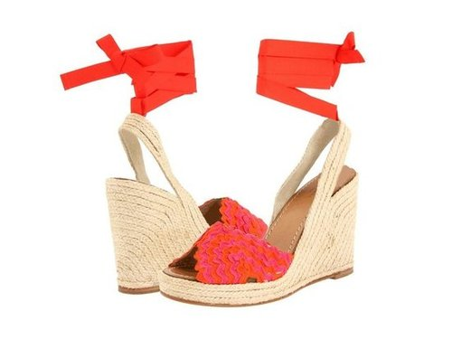 Pair these bright, sunny wedges with a chambray dress for a go-anywhere, casual-meets-dressy style.  Kate Spade New York Ole Wedges ($90)