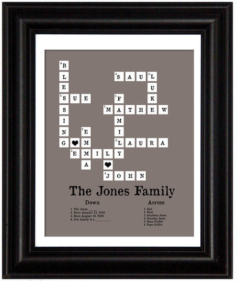 Little Mommy Designs Modern Family Tree Crossword Puzzle ($35)