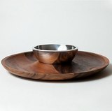 For hummus and crudités or chips and guac, this Nambe Sante Fe Chip and Dip Set ($150) is an inspired choice.