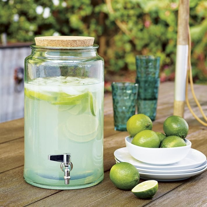 Mix up some limeade — or, better yet, sangria — in this Recycled Glass Drink Dispenser ($59).