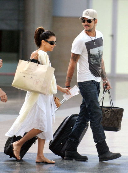 Eva Longoria and Eduardo Cruz were all smiles as they walked through the train station.