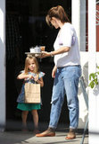 Jennifer Garner Sticks Close to Seraphina as Violet Finishes Up Her First School Year