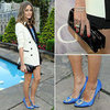 Olivia Palermo White Tuxedo Jacket NYC