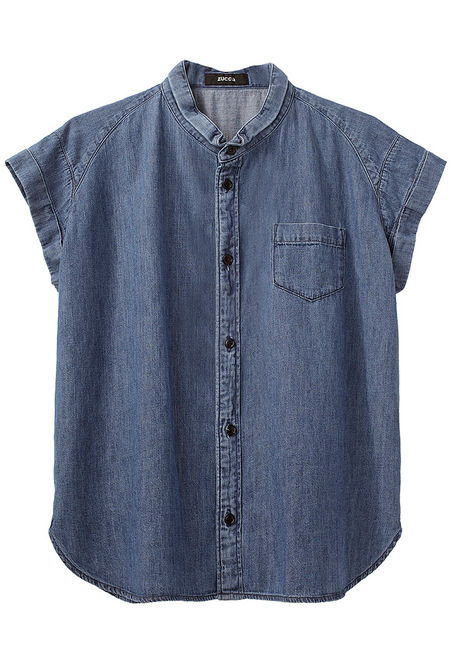 A denim button-down will never let you down, and we love the boxy cut of this short-sleeved iteration. Pair it with white jeans or over a pretty floral dress.  Zucca Round Collar Denim Shirt ($343)