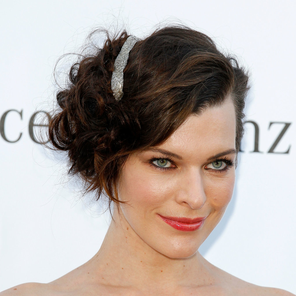 Milla Jovovich at the amfAR Gala