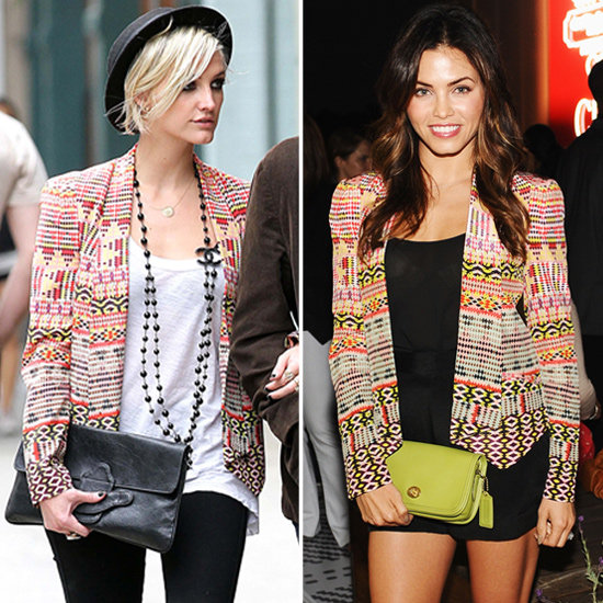 Ashlee Simpson and Jenna Dewan Work One Ikat Blazer Two Ways — Shop It!