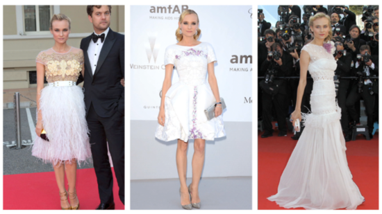 Diane Kruger Wows in White 3 Times at Cannes, Which Look Do You Like Best?