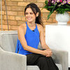 Rachel Bilson Blue Tank Yellow Shoes