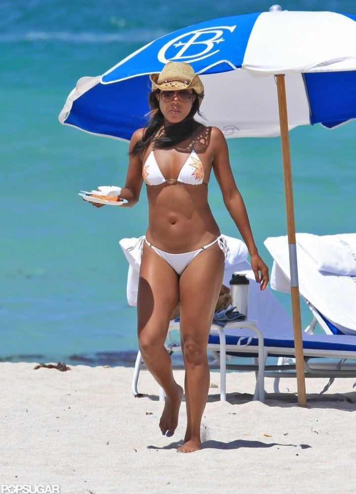 Gabrielle Union wore a bikini for a day on the Miami beach.