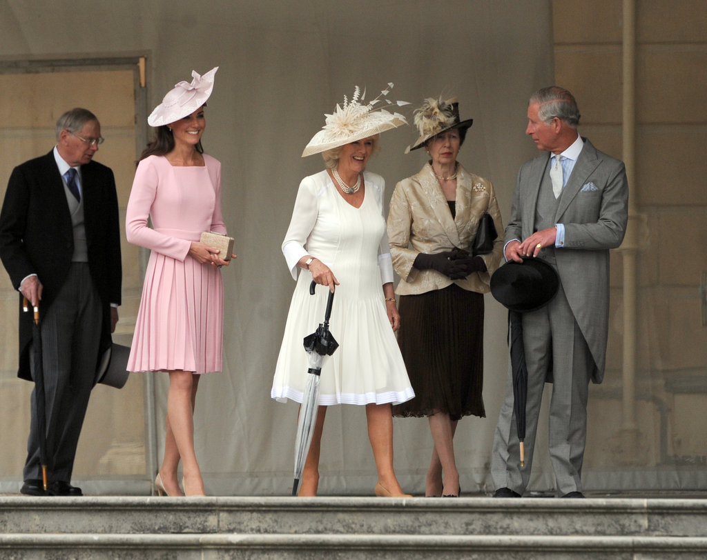 Kate Middleton walked with family members as she arrived at the event.