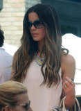 Kate Beckinsale arrived at Joel Silver's Memorial Day party.