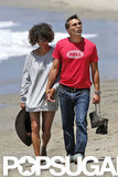 Halle Berry and Olivier Martinez held hands on the beach over Memorial Day weekend.
