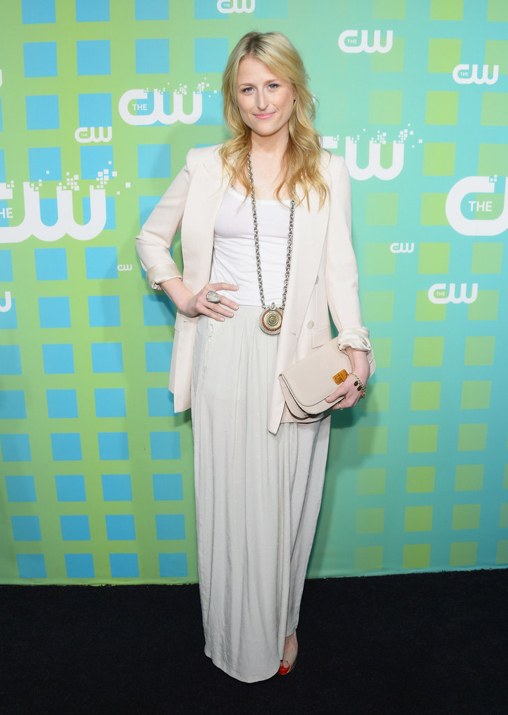 Mamie Gummer (aka Meryl Streep's daughter) outfitted a creamy blazer and maxi for this effortlessly elegant combo.