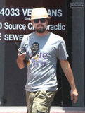 Leonardo DiCaprio wore a Magic Johnson t-shirt.