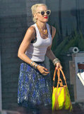 Gwen Stefani was with her family at a Memorial Day party at Joel Silver's house in LA.