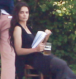 Katie Holmes Drinking Beer on Set Pictures