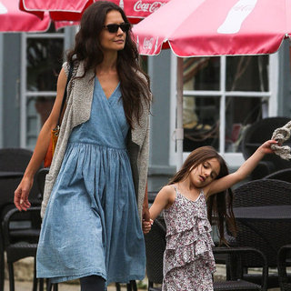 Katie Holmes and Suri Cruise Pictures in Connecticut