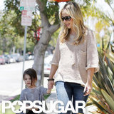 Sarah Michelle Gellar held hands with daughter Charlotte.