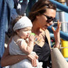 Victoria Beckham Pictures With Harper and Romeo at Pier