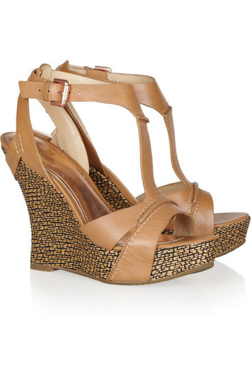 Comfy wedges for Summer city exploring. Belle Sigerson Morrison Braiden Raffia Wedge Sandals ($125, originally $250)