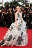 What a glamorous red carpet finale! Diane Kruger went all out in Christian Dior.