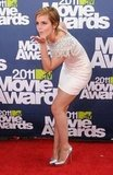 Emma Watson blew a kiss on the red carpet of the 2011 MTV Movie Awards.