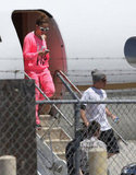 Jennifer Lopez and Casper Smart stepped off of a private plane together in LA.