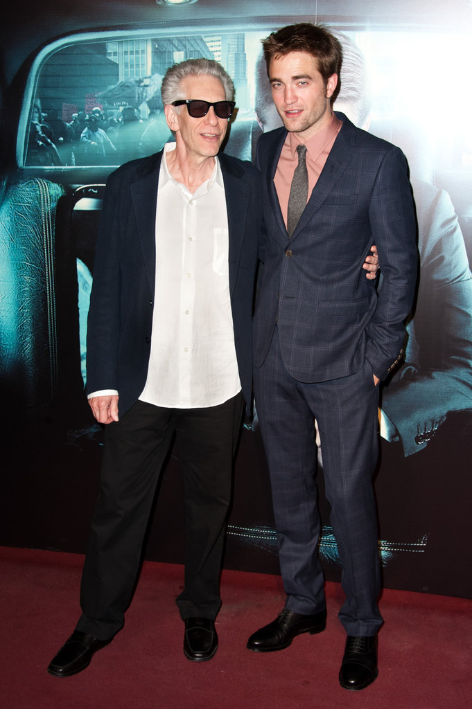 Robert Pattinson and David Cronenberg  reunited at the Cosmopolis premiere at Le Grand Rex.