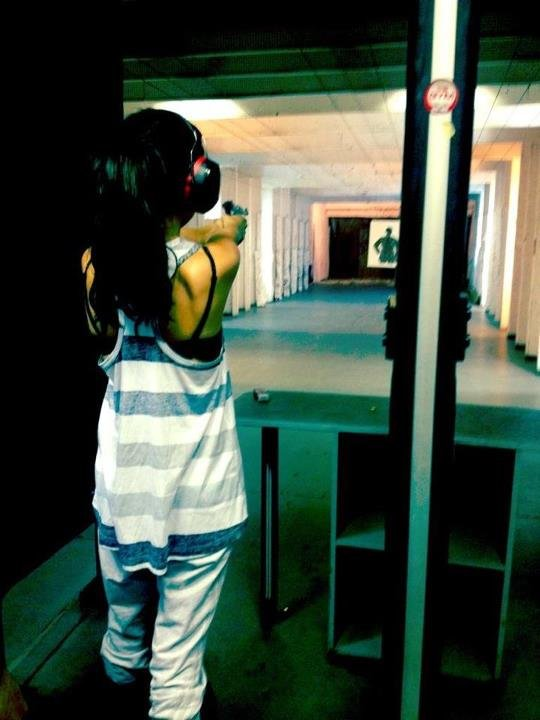 Selena Gomez blew off some steam at the shooting range.  Source: Facebook user Selena Gomez