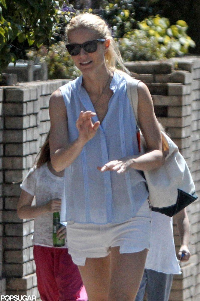 Gwyneth Paltrow enjoyed the sunshine in London.