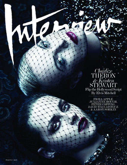 Kristen Stewart and Charlize Theron share the June/July Interview cover.