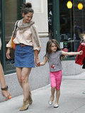 Katie Holmes and Suri Cruise both kept it casual as they spent the day out in the city.