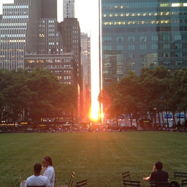 Shohammer's Manhattanhenge at Bryant Park.