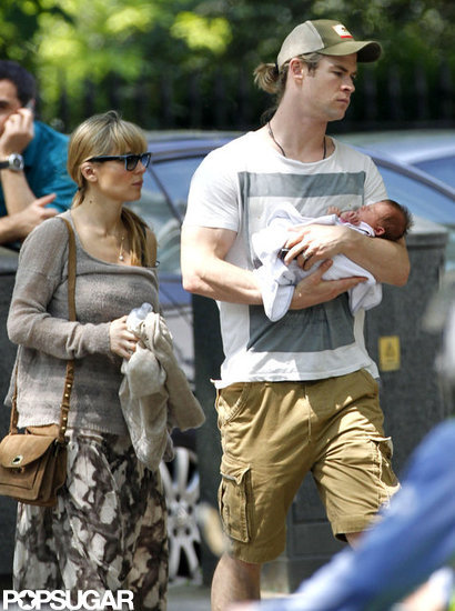 First Pictures of Chris Hemsworth's Baby India!