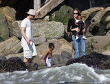 Angelina Jolie and Brad Pitt spent a day at the beach in LA with little ones Zahara Jolie-Pitt and Maddox Jolie-Pitt back in October 2005.