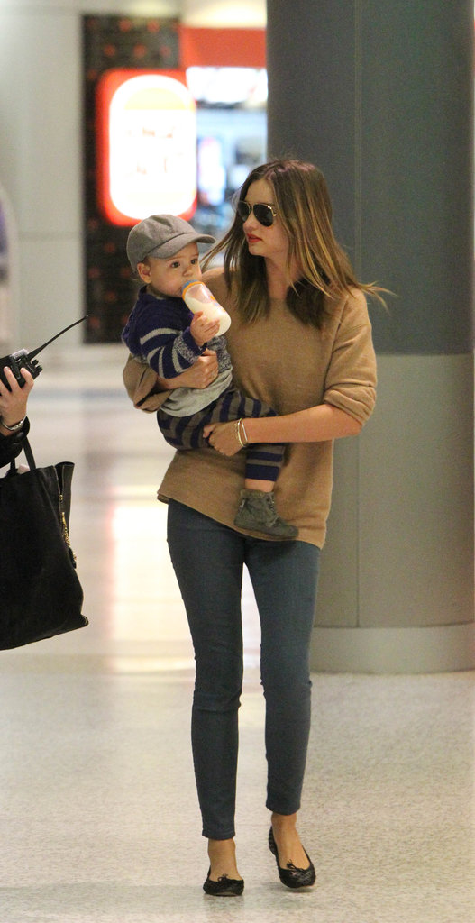 Miranda Kerr and Flynn Bloom Make Their Way Through Sydney