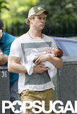 Chris Hemsworth cradled baby India.