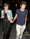 Keira Knightley and her fiancé, James Righton, had dinner out in London in celebration of their engagement.