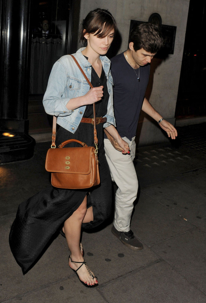 Keira Knightley and James Righton celebrated their engagement out in London together.